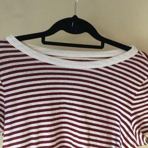 LOFT Dresses - LOFT Lounge t-shirt dress, red and white striped